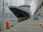 HK TST Ocean Terminal Piers Victoria Harbour parking Cunard Line Queen Victoria control area zone gate Mar-2013.JPG