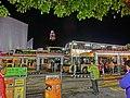 HK TST night Salisbury Road Star Ferry Piers Bus Terminus 尖沙咀碼頭巴士總站 visitors Mar-2013.JPG