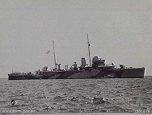 HMAS Warrego (U73) - Image: HMAS Warrego (AWM 301676)