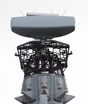 Type 23 frigate - Type 997 Artisan 3D radar on HMS Argyll following her 2010 refit