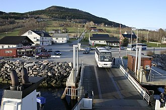 European route E39 - Halsa ferry dock