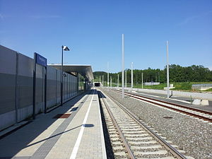 Koralm Railway - Southern portal of the Hengsbergtunnel and Hengsberg station (opened in 2010)