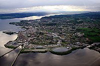 mid-June 2009 aerial photograph of Hamar