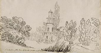 Hameau de la reine - Tour de Marlborough - 1802 - John-Claude Nattes.jpg