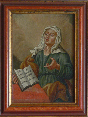 "Psalm 119 - Reverse glass painting of a woman praying Psalm 119 (118):22, Aufer a me opprobrium et contemptum (""Take away from me scorn and contempt"")"