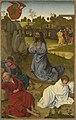 Hans Pleydenwurff - Hofer Altar, Christus am Ölberg (Rückseite, Erzengel Michael mit dem Drachen) - 663 - Bavarian State Painting Collections.jpg