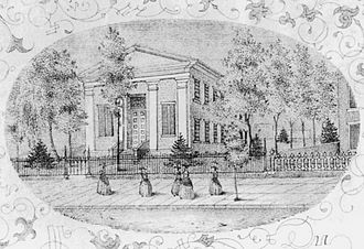 Hartford Female Seminary - Hartford Female Seminary, from an 1896 diploma