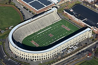 Football at the 1984 Summer Olympics - Image: Harvard Stadium aerial axonometric