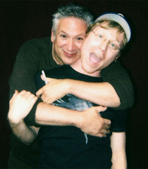Harvey Fierstein - Harvey Fierstein (left) with Anthony Rapp at the Annual Flea Market and Grand Auction hosted by Broadway Cares/Equity Fights AIDS, September, 2006.