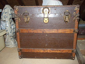 "Trunk (luggage) - A hat trunk (box) dating from the 1890s, with ""cube-shaped"" construction"