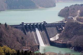 Hatogaya Dam Dam in Shirakawa, Gifu Prefecture