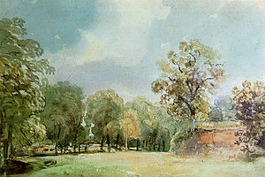 Thomas Churchyard (painter) - Landscape painting of Haugh Lane, Woodbridge by Thomas Churchyard