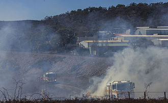 Australian Capital Territory Rural Fire Service - Two 10 Tankers assisting in the Hazard Reduction Burn September 2013