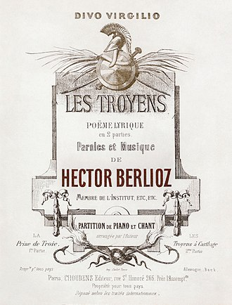 Les Troyens - Cover of the Choudens et Cie vocal score