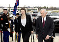 Helen Clark and Robert Gates entering The Pentagon, 2007.jpg