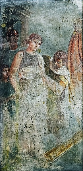 File:Helen of Sparta boards a ship for Troy fresco from the House of the Tragic Poet in Pompeii.jpg