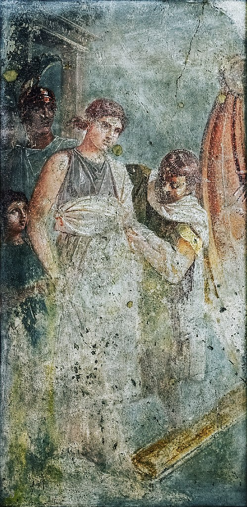 File:Helen of Sparta boards a ship for Troy fresco from the House of the  Tragic Poet in Pompeii.jpg - Wikimedia Commons