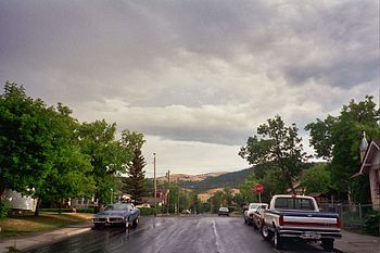 Residential area in Helena, Montana, USA