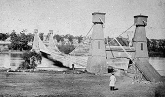 Franklin Steele - Steele's first bridge ca. 1865