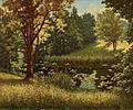 Henri Biva, Bord de rivière avec nénuphares, oil on canvas, 61 x 73 cm.jpg