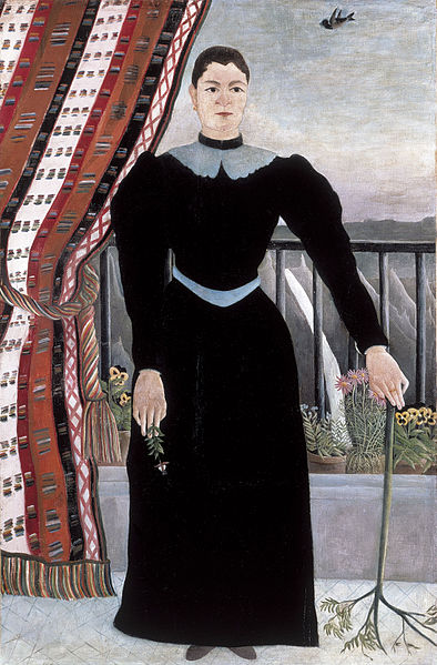 File:Henri Rousseau - Portrait of a Woman (1895).jpg