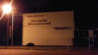 Denison, Texas - A Herald Democrat location in downtown Denison
