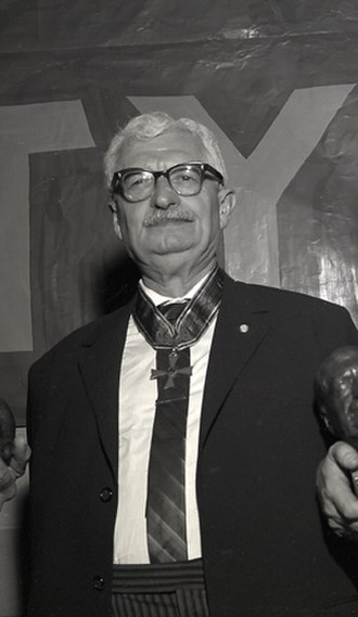 Hermann Oberth - Hermann Oberth with Order of Merit of the Federal Republic of Germany, 1961