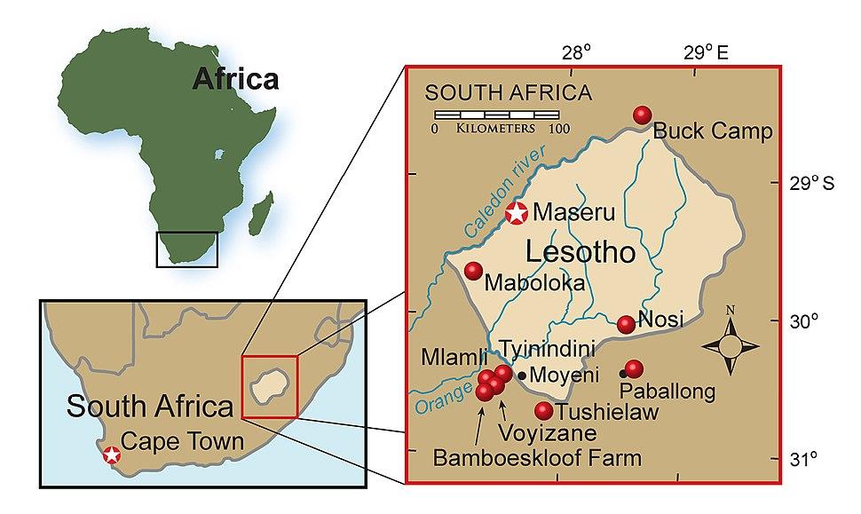 Heterodontosaurid localities