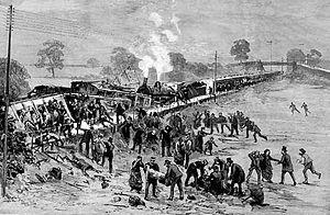 Hexthorpe rail accident - Image: Hexthorpe 1887