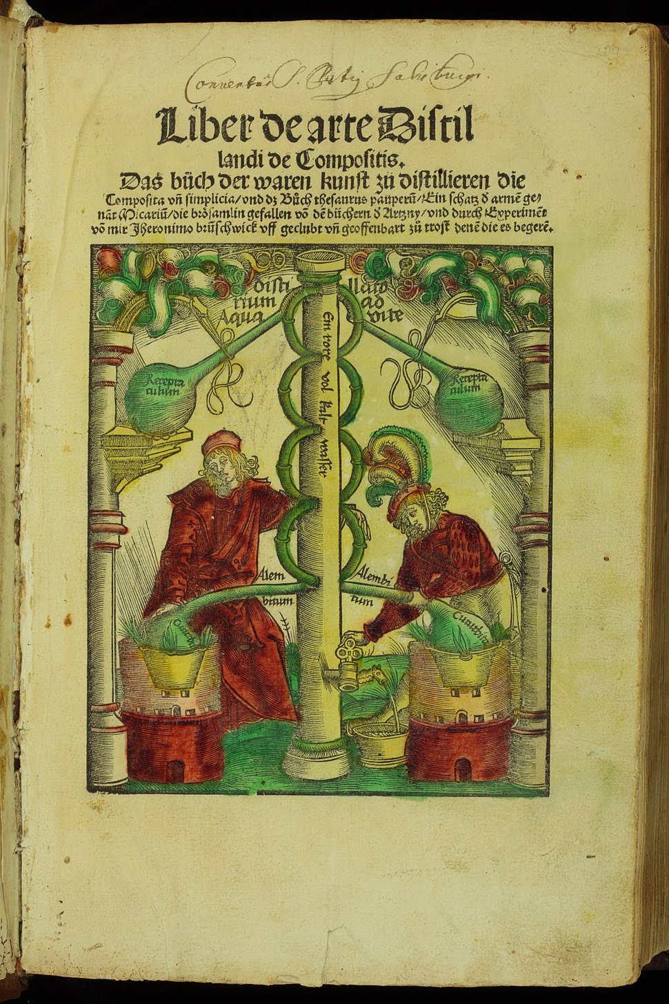 Hieronymus Brunschwig Liber de arte Distillandi CHF AQ13x3