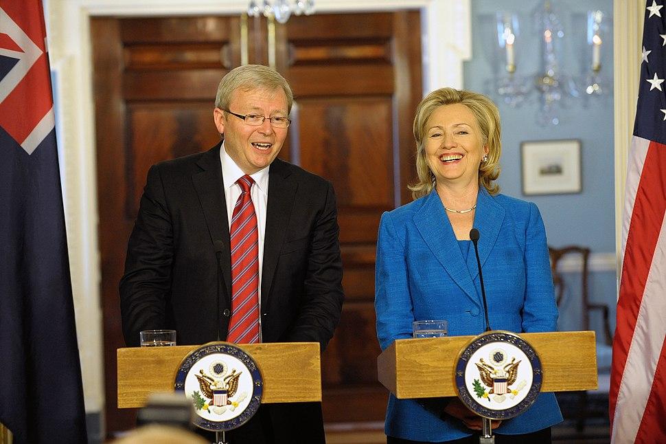 Hillary Clinton Kevin Rudd Sept 2010