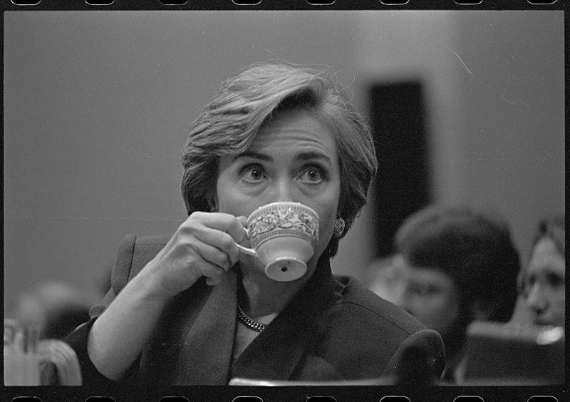 Hillary Clinton in 1993 at healthcare presentation.jpg