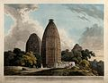 Hindu temples at Bindraban on the river Jumna, India. Colour Wellcome V0050461.jpg