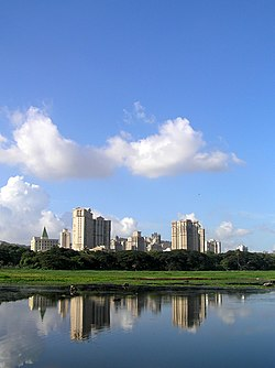 A view of Hiranandani from across the Powai Lake