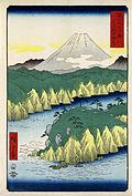 Hiroshige, The lake in Hakone, 1858.jpg