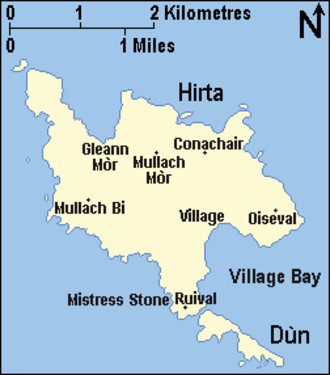 Hirta - Map of Hirta