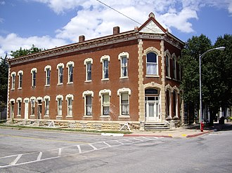 Peabody, Kansas - Image: Historic 1884 Peabody Bank Building, Lot 29, in Peabody, Kansas
