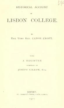 Historical account of Lisbon college.djvu
