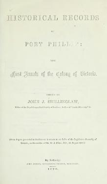 Historical records of Port Phillip.djvu