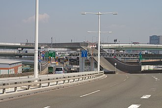 Hanshin Expressway - Hanshin expressway in Osaka