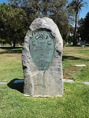Confederate Monument (Hollywood Forever Cemetery) - The monument in 2013