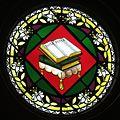 Holy Trinity Catholic Church (Trinity, Indiana) - stained glass, Holy Bible.jpg
