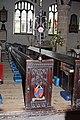 Holy Trinity Church, Kendal, Cumbria - Sword rest and pew - 929827.jpg