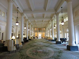 The Omni Homestead Resort - Lobby of the resort in 2016