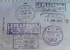 Entry And Exit Stamps At Hong Kong International Airport The Macau Ferry