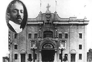 Howard Theatre - Howard Theatre at 620 T Street NW, with inset of manager, Andrew J. Thomas (ca. 1910-1919).