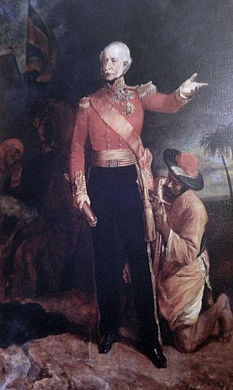 Hugh Gough, 1st Viscount Gough - A painting of Hugh Gough that hangs in the hallway of St. Helen's, Booterstown.