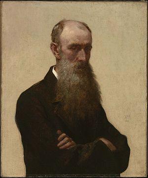 William Morris Hunt - William Morris Hunt self-portrait, 1866