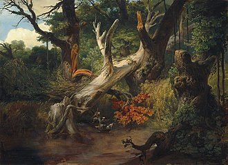 Pontine Marshes - Hunting in the Pontine Marshes, oil on canvas by Horace Vernet, 1833.