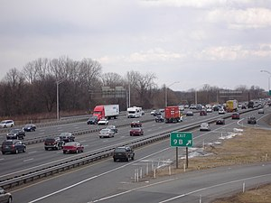 Interstate 95 in Pennsylvania - I-95 southwest of Philadelphia